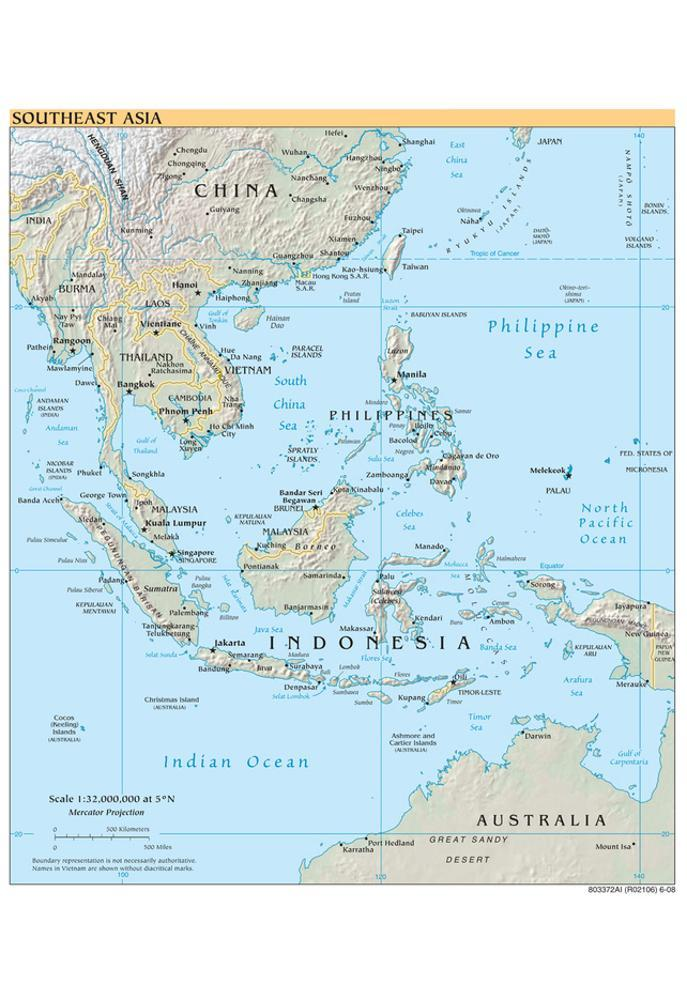 Map of Central America and the Caribbean (Political) Art Poster ...