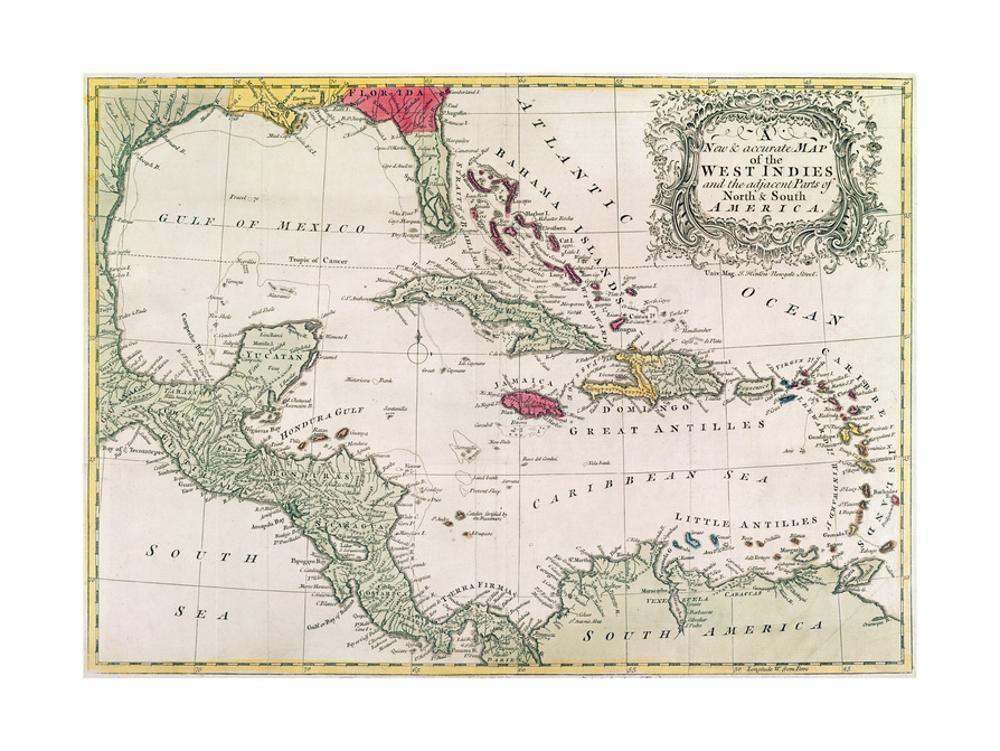 Spanish Map of Florida and the Bahamas, 1805 Giclee Print at ...